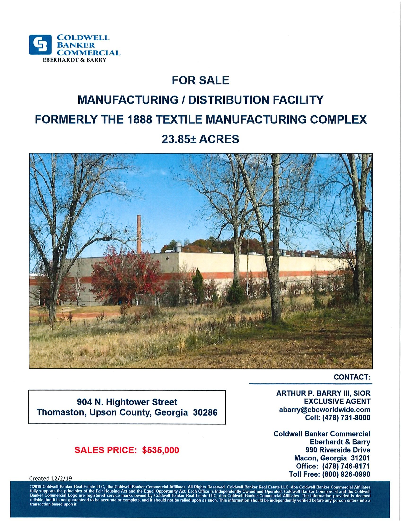 Manufacturing/Distribution Facility Page 1